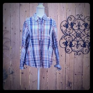 Alfred Dinner Button Down Blouse Size 12